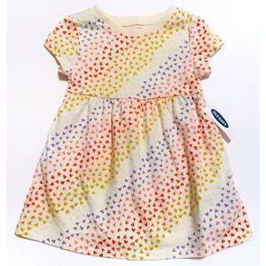 NWT Old Navy Heart Print dress 12-18 Months